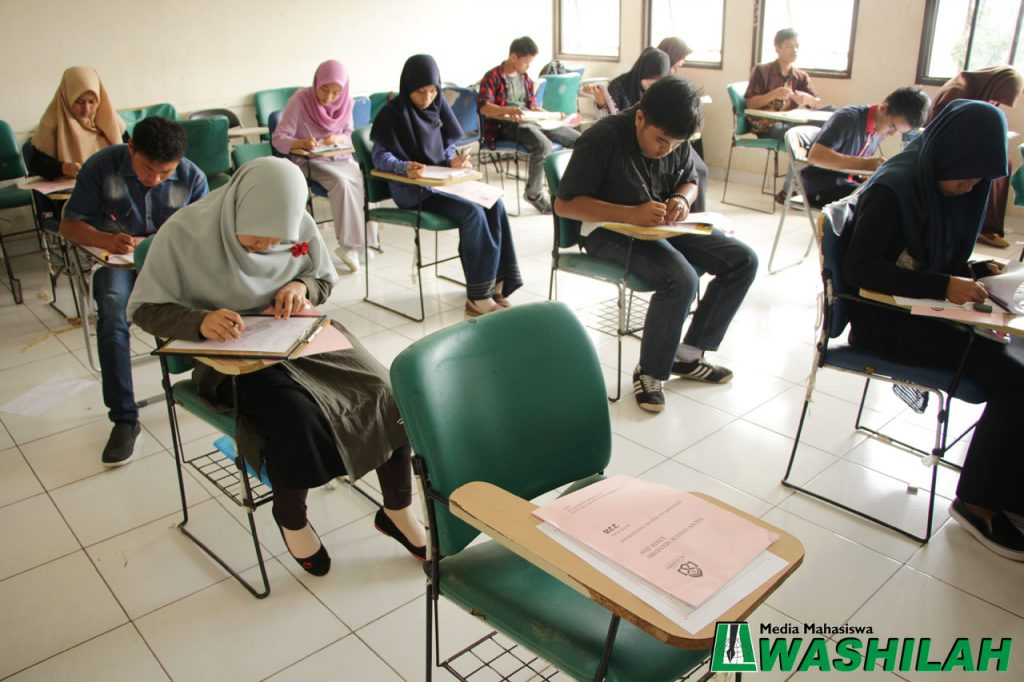 Salah satu peserta ujian tidak hadir pada jalur UMM di Kampus II UIN Alauddin Makassar. Selasa, 02 Agustus 2016. Dari pantauan reporter Washilah beberapa peserta ujian masih ada yang mencari lokasi ujiannya sementara tes sudah berlangsung.